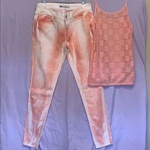 Levi's jeans with a matching cami EUC SET